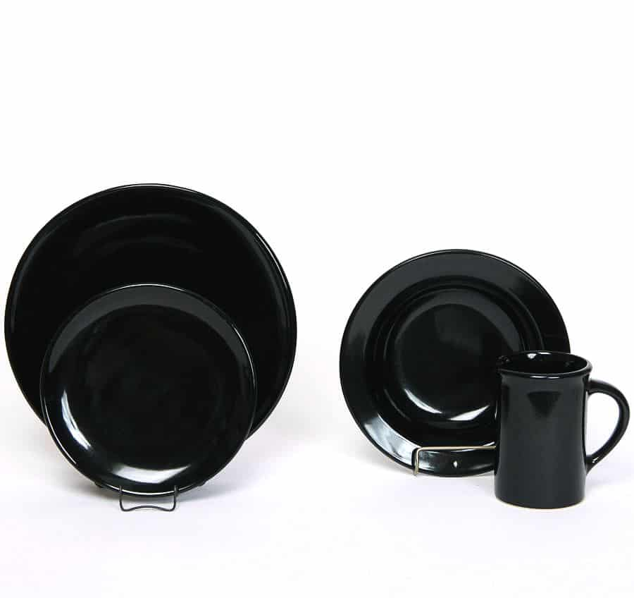 Onyx Black Coupe Dinner Plate Set for One