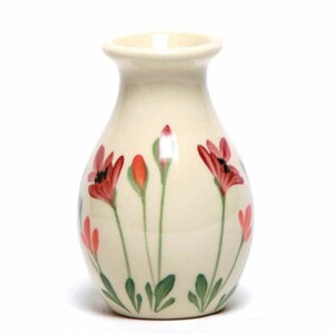 Red Poppy Bud Vase