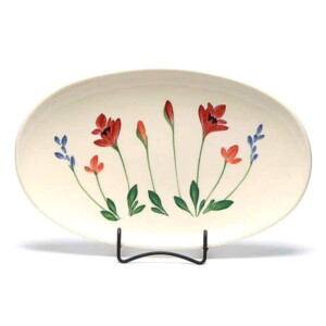 Red Poppy Oval Platter