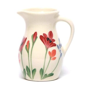 Red Poppy Posie Pitcher