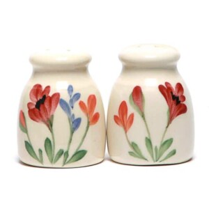 Red Poppy Salt and Pepper Shaker Set