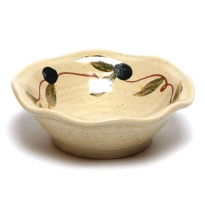 Tuscan Olive Little Frilly Bowl