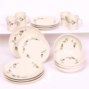 Cranberry Craftline Dinner Plate Set for Four
