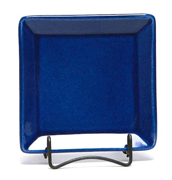 American Blue Square Appetizer Plate