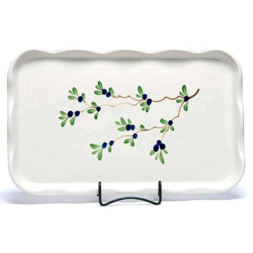 Blueberry Large Frilly Tray