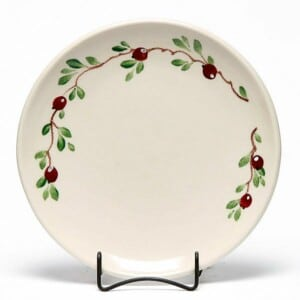 Cranberry Coupe Dinner Plate