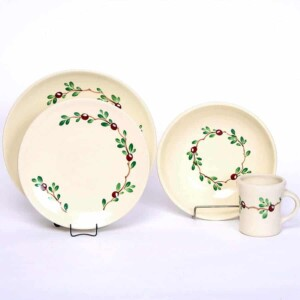 Cranberry Craftline Dinner Plate Set for One