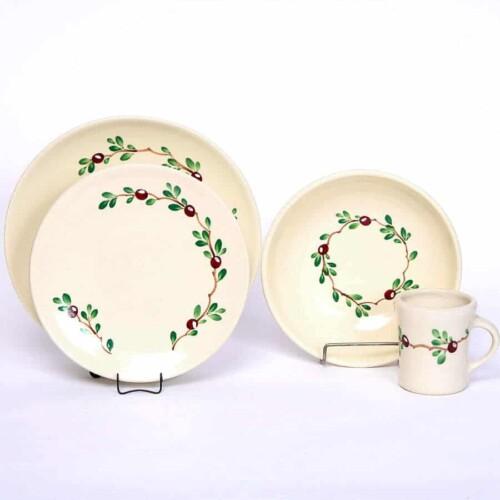 Cranberry Craftline Dinner Plate Set for One