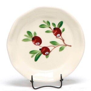 Cranberry Oil Dipping Dish/Coaster