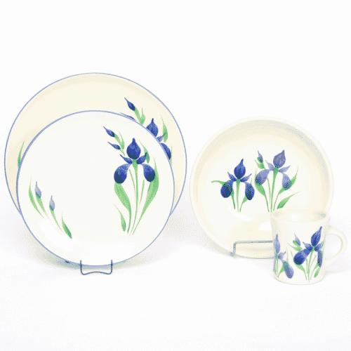 Field of Iris Craftline Dinner Plate Set for One