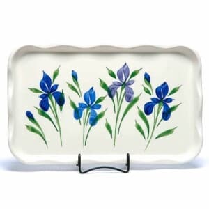 Field of Iris Large Frilly Tray