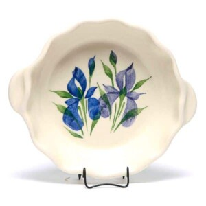 Field of Iris Small Casserole Dish