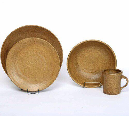 Go Green Earthware Craftline Dinner Plate Set for One