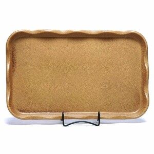 Go Green Earthware Large Frilly Tray