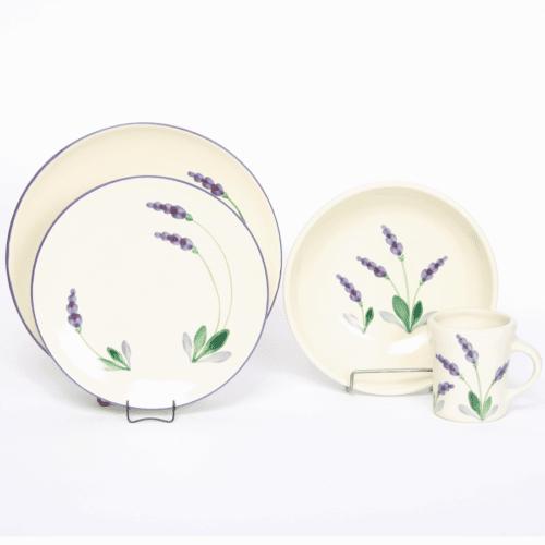 Lavender Craftline Dinner Plate Set for One