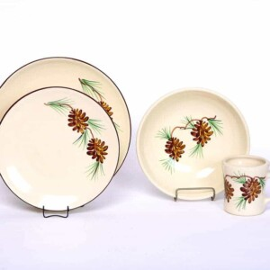 Pinecone Craftline Dinner Plate Set for One