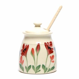 Red Poppy Honey Pot