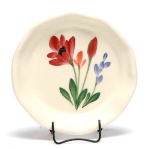 Red Poppy Oil Dipping Dish/Coaster