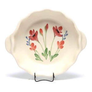 Red Poppy Small Casserole Dish
