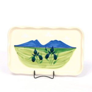 Summer Peaks Large Frilly Tray