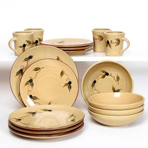 Tuscan Olive Craftline Dinner Plate Set for Four