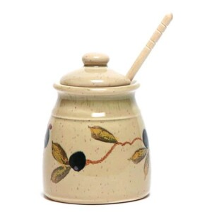 Tuscan Olive Honey Pot