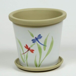 Dragonfly Flower Pot